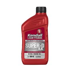 Kendall 1077884-12PK Super-D XA 15W40 Diesel Engine Oil with Liquid Titanium - 1 quart
