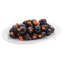 Black olives stuffed with carrots in oil 250g