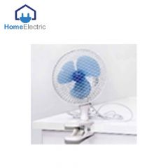 Home Electric Clip Fan 15W , 2 speed choice White & Blue
