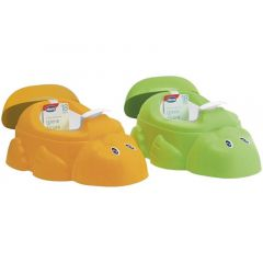 Chicco Anatomical Potty With Inner Potty - Duck Shape Green / Orange