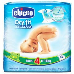 Chicco Diapers Dry Fit Advance - Size 4 Maxi 8-18Kg - 19 Pieces