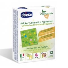 Chicco Natural Colored and Scented Mosquito Patches 12 Pieces