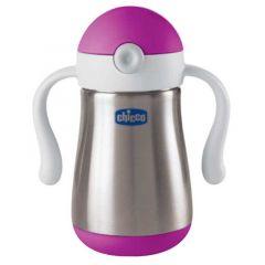 Chicco Inox Power Cup 237ml - Pink