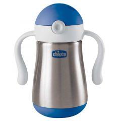 Chicco Inox Power Cup 237ml - Blue