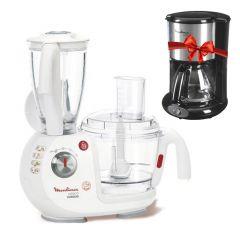 Moulinex Multifunction Robot Odacio Food Processor, 1000W, 3 Liter + Free Gift Moulinex  coffee maker 6-cup 650W