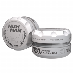 NISHMAN C1 Coloring Hair Styling Wax - Light Silver 150 ml