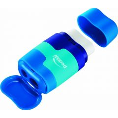 Maped Double Sharpener And Rubber 2in1 Blue