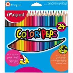 Maped Color Peps 24 Triangular Color Pencils