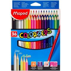 Maped Color Peps Colored Pencils, Assorted Colors, Pack of 36