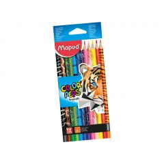 Maped Color Peps Animal 12 Color Pencils