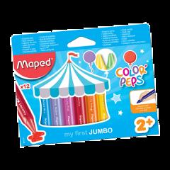 Maped Color Peps Wax Crayons Jumbo 12 Color Pencils