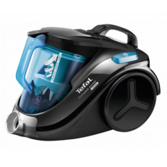 Tefal TETW3731HA Bagless Compact Power Cyclonic Vacuum, 2000W, Blue/Black
