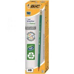 BIC Evolution 655 Eraser Tipped Pencils Pack of 12