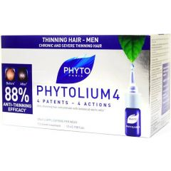 Phyto Phytolium 4 Densifying Treatment Anti Thinning Hair Men  12x3.5ml