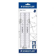 Staedtler 15cm Plastic Flat Ruler Set