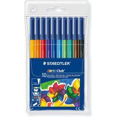 Staedtler Noris Club 326 WP10 Fiber Tip Pen, Pack of 10