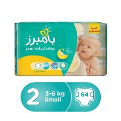 Pampers new baby-dry, Size 2, Small, 3 - 6 kg, 64 Diapers