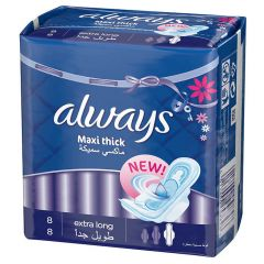 Always Maxi Thick Extra Long, 8 Pads