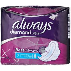 Always Diamond Ultra Best Always Extra Long, 7 Pads