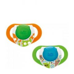 Chicco Physio Compact Night +12 months, 2 pieces -  Green-Orange