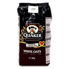Quaker Quick Cooking White Oats Bag 500g