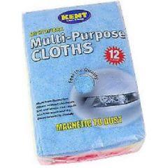 Kent Q6612 Microfibre Multi-Purpose Cloths -12 Per Pack