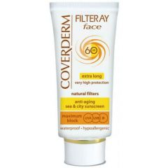 Coverderm Filteray Tinted SPF 60 Extra Long Very High Protection Light Beige Face Cream 50ml