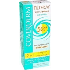 Coverderm Filteray Face Plus SPF 50 Very High Protection Face Cream For Oily Acneic Skin 50ml