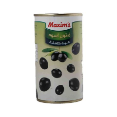 Maxim's Whole Blacck Olives 360g