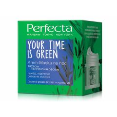Perfecta Your Time Is Green cream mask against imperfections overnight 50ml