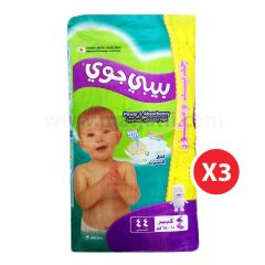 Baby Joy,Size 4, Large, 10 - 18 kg, 132 Diapers