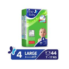 Fine Baby, Size 4, Large, 7 - 17 kg, 44 Diapers
