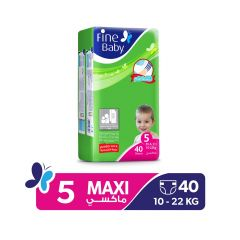 Fine Baby, Size 5, Maxi, 10 - 22 kg, 40 Diapers