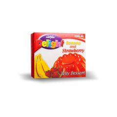 Noon Delight Jelly Dessert Banana And Strawberry 85g