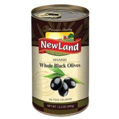 NewLand Spnish Whole Black Olives 345g