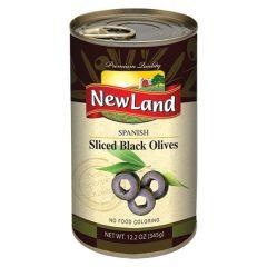 NewLand Spanish Black Olives Sliced  345g