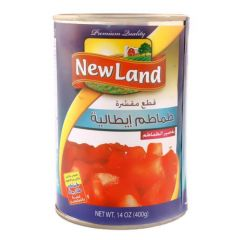 New Land Chopped & Peeled Tomato 400g