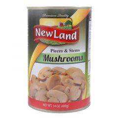 New Land Mushrooms Pieces & Stems 400g