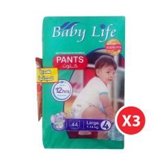 Baby Life, Size 4, Large, 7 - 14 kg, 132 Culotte Diapers