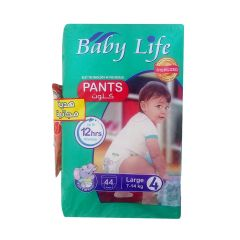 Baby Life, Size 4, Large, 7 - 14 kg, 44 Culotte Diapers