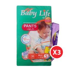 Baby Life, Size 5, Maxi, 11 - 18 kg, 108 Culotte Diapers
