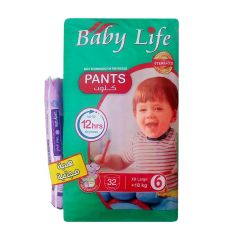 Baby Life, Size 6, XXLarge, 18+ kg, 32 Culotte Diapers