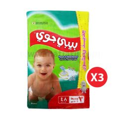 Baby Joy,Size 3, Medium, 6 - 12 kg, 144 Diapers