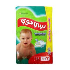 Baby Joy,Size 3, Medium, 6 - 12 kg, 48 Diapers