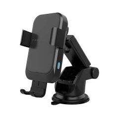 Powerology - Fast Wireless Charger Car Mount 15W with Air Vent Mounting and QC3.0 Car Charger - Black