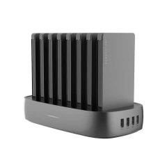 Powerology - 8 in 1 Power Station 8000mAh with Built-In Cable - Black