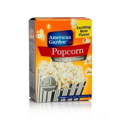 American Garden Microwave Popcorn Sea Salt  Pepper