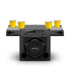 Sony GTK-PG10 Wireless Party Speaker with Built-in Battery -Black (Wireless,13hrs Battery Life, Splash Proof top Panel, Karaoke, Bluetooth Connectivity)
