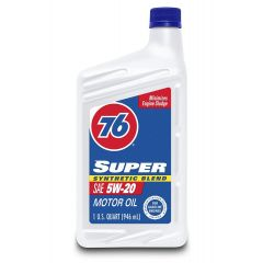 76 Lubricants 1043436 5W-20 Super Synthetic Blend Motor Oil - 1 Quart