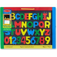 Magnetic Chalkboard And Dry-Erase Board With 36 Magnets
